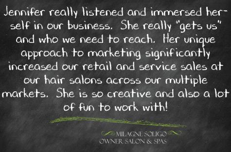 hair salon spa marketing hamilton
