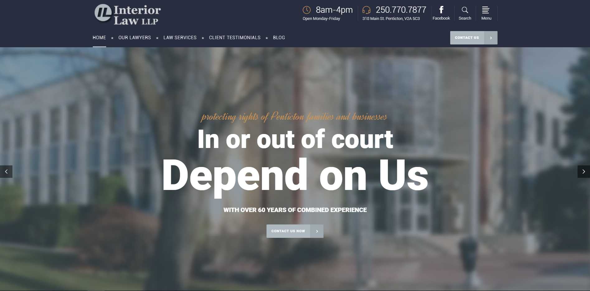 Law firm Hamilton website design
